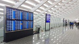 대만 타오위안 공항의 디지털 사이니지