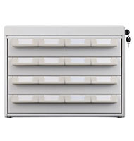 6 drawer medication box attachment for medical cart