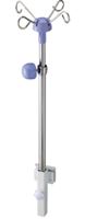 Infusion frame attachment for medical carts