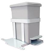 trash bin for medical carts