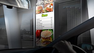 Advantech High Brightness Display Solutions Shine on Digital Drive-thru Menu Boards
